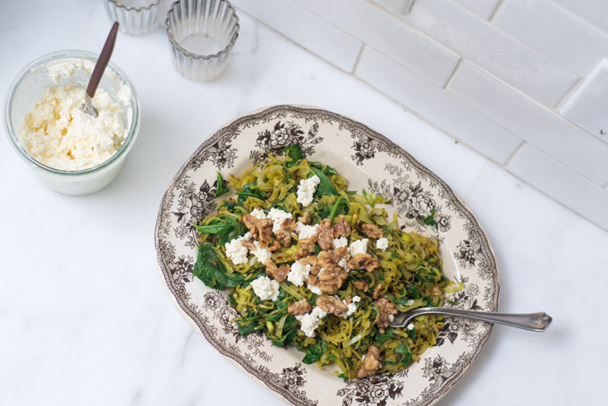 Spiced Spinach with Walnuts -gluten-free-recipe